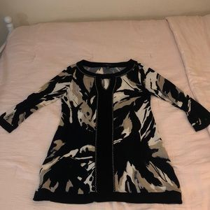 Long-Sleeved Patterned Dress (Worn Once)